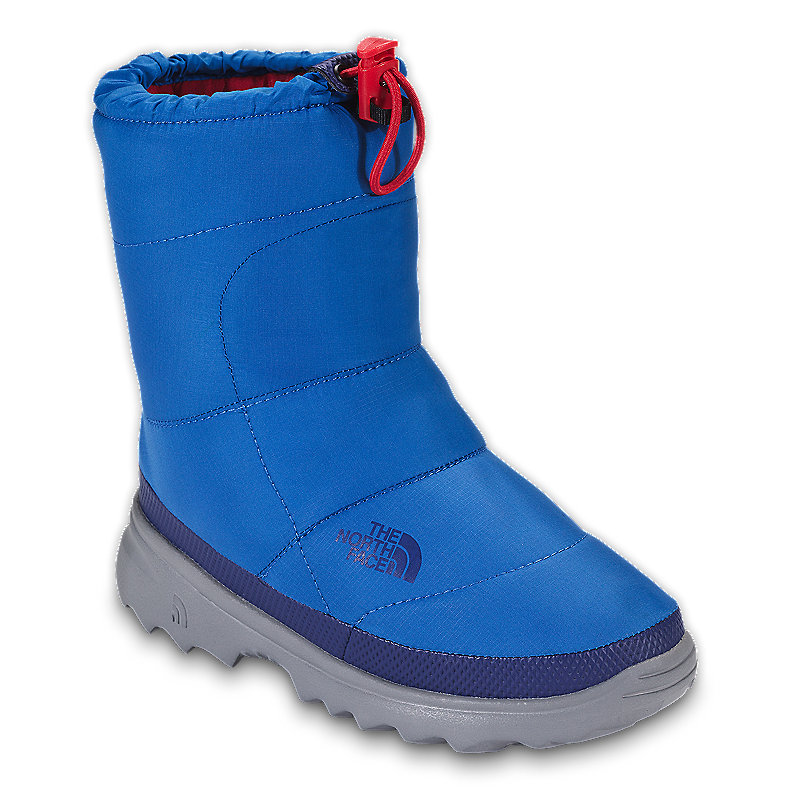 NORTH FACE BOYS NUPTSE BOOTIE II BOLT BLUE / JAKE BLUE