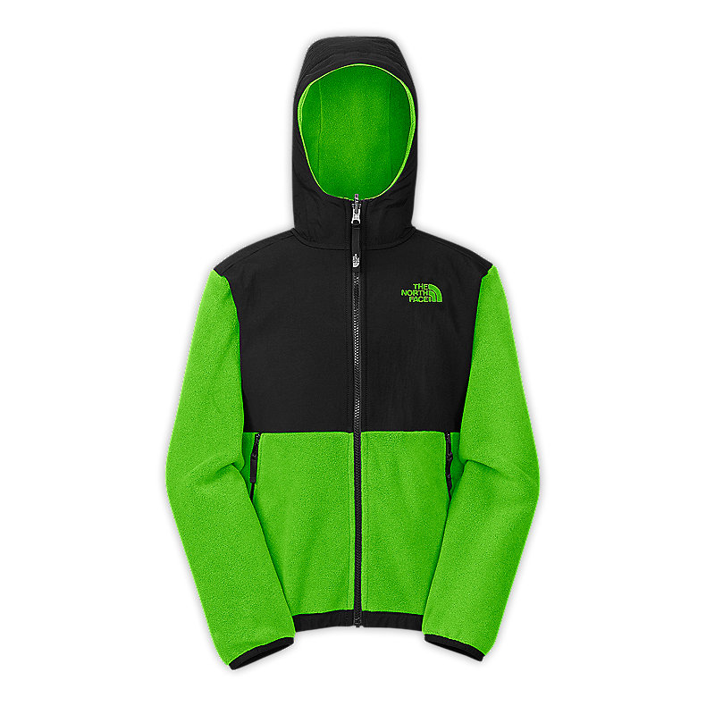 NORTH FACE BOYS DENALI HOODIE GLO GREEN