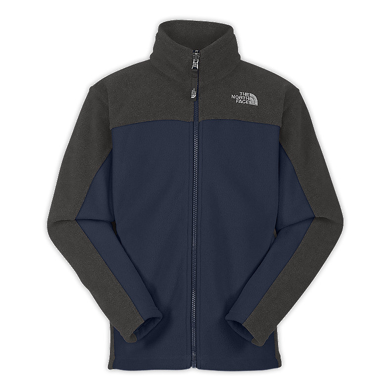 NORTH FACE BOYS KHUMBU JACKET DEEP WATER BLUE / GRAPHITE GREY