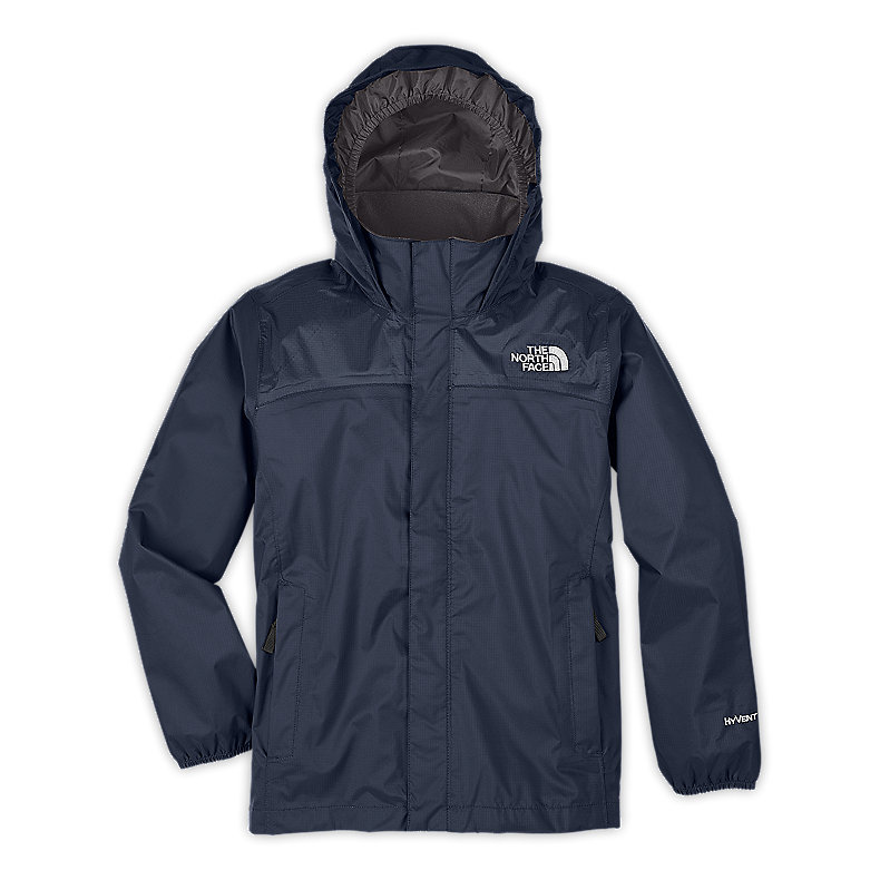 NORTH FACE BOYS RESOLVE JACKET DEEP WATER BLUE / GRAPHITE GREY