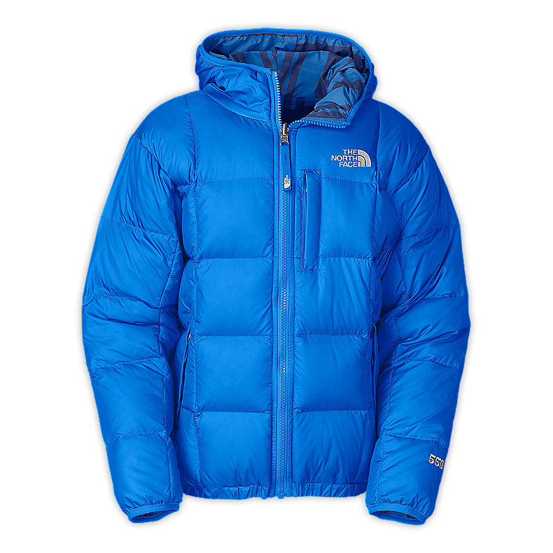 NORTH FACE BOYS REVERSIBLE DOWN MOONDOGGY JACKET JAKE BLUE