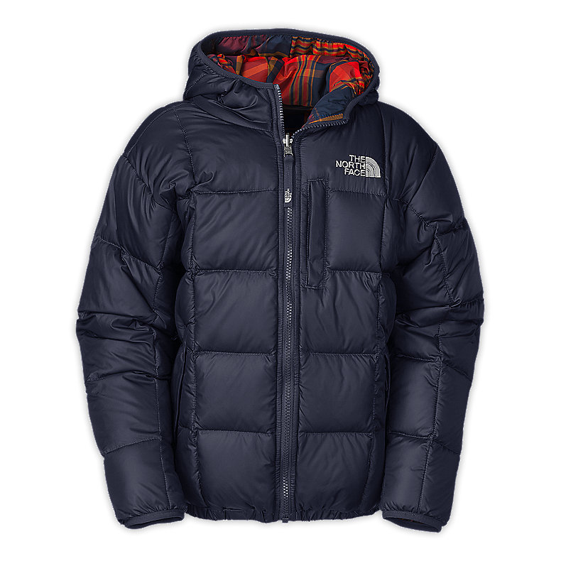 NORTH FACE BOYS REVERSIBLE DOWN MOONDOGGY JACKET DEEP WATER BLUE