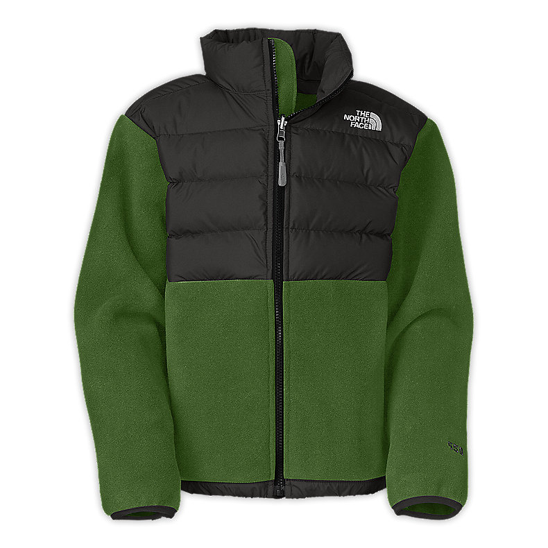 NORTH FACE BOYS DENALI DOWN JACKET CONIFER GREEN