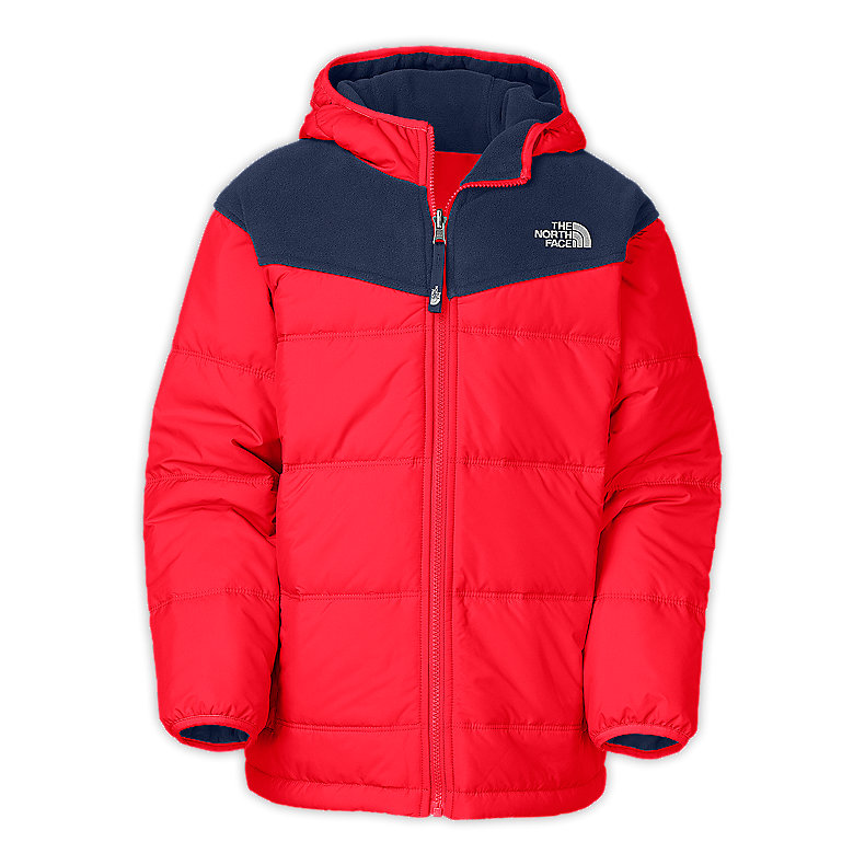 NORTH FACE BOYS REVERSIBLE TRUE OR FALSE JACKET FIERY RED / DEEP WATER BLUE