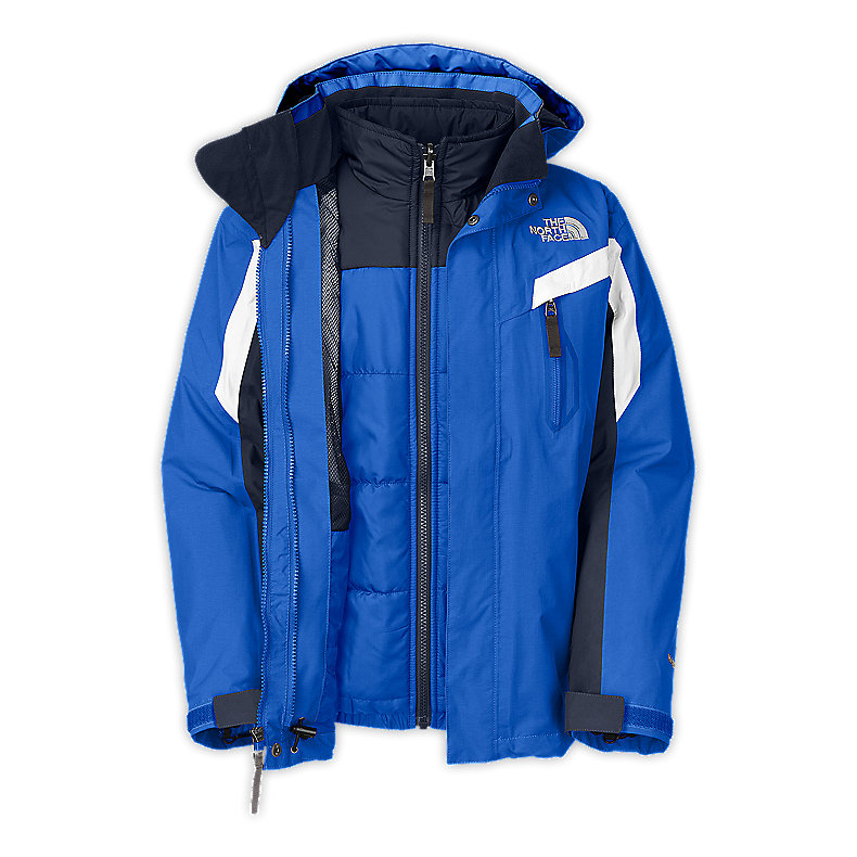 NORTH FACE BOYS BOUNDARY TRICLIMATE JACKET JAKE BLUE
