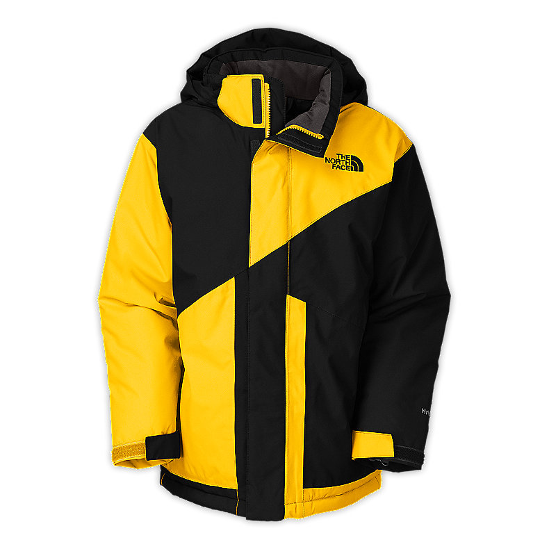 NORTH FACE BOYS BRIGHTTEN INSULATED JACKET TNF BLACK / LEOPARD YELLOW