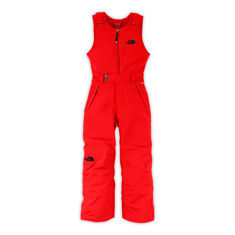 NORTH FACE BOYS INSULATED SNOWDRIFT BIB FIERY RED