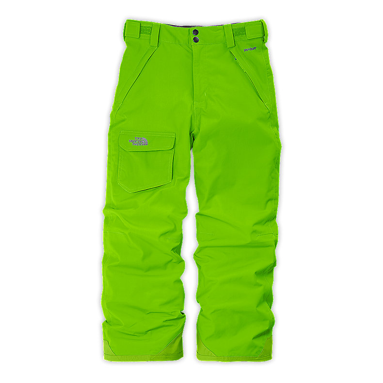 NORTH FACE BOYS FREEDOM INSULATED PANT GLO GREEN