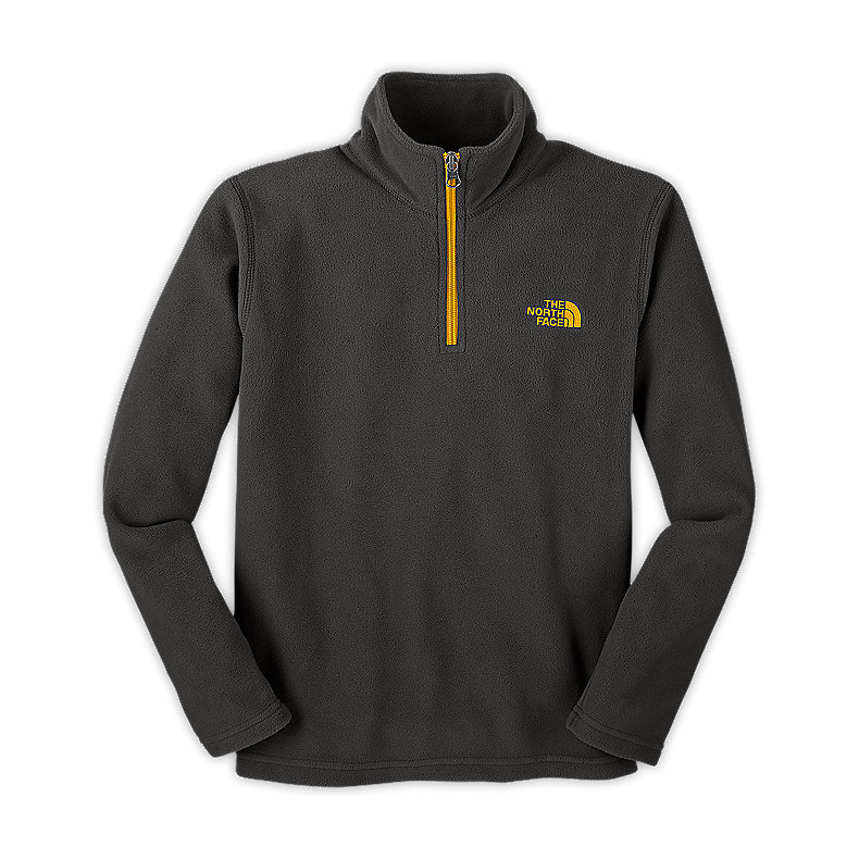 NORTH FACE BOYS GLACIER 1/4 ZIP GRAPHITE GREY / LEOPARD YELLOW
