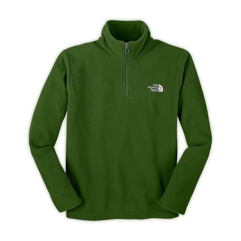 NORTH FACE BOYS GLACIER 1/4 ZIP CONIFER GREEN