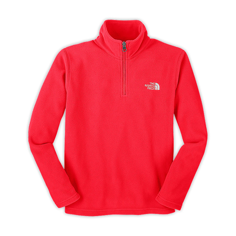 NORTH FACE BOYS GLACIER 1/4 ZIP FIERY RED