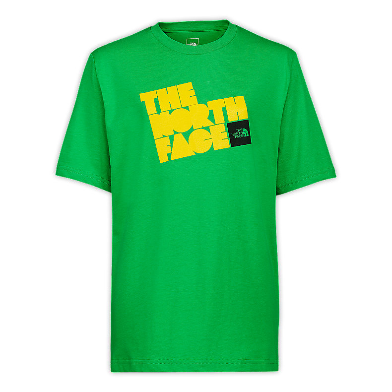 NORTH FACE BOYS S/S TIME OUT TEE TRIUMPH GREEN