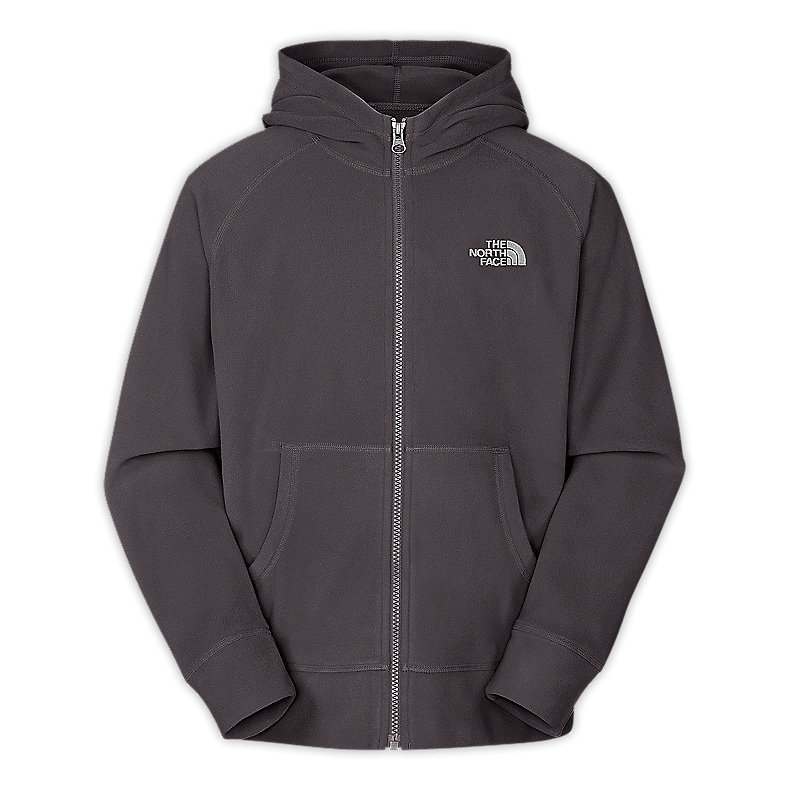 NORTH FACE BOYS GLACIER FULL ZIP HOODIE GRAPHITE GREY