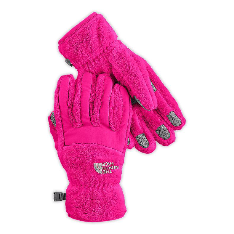 NORTH FACE GIRLS DENALI THERMAL GLOVE RAZZLE PINK