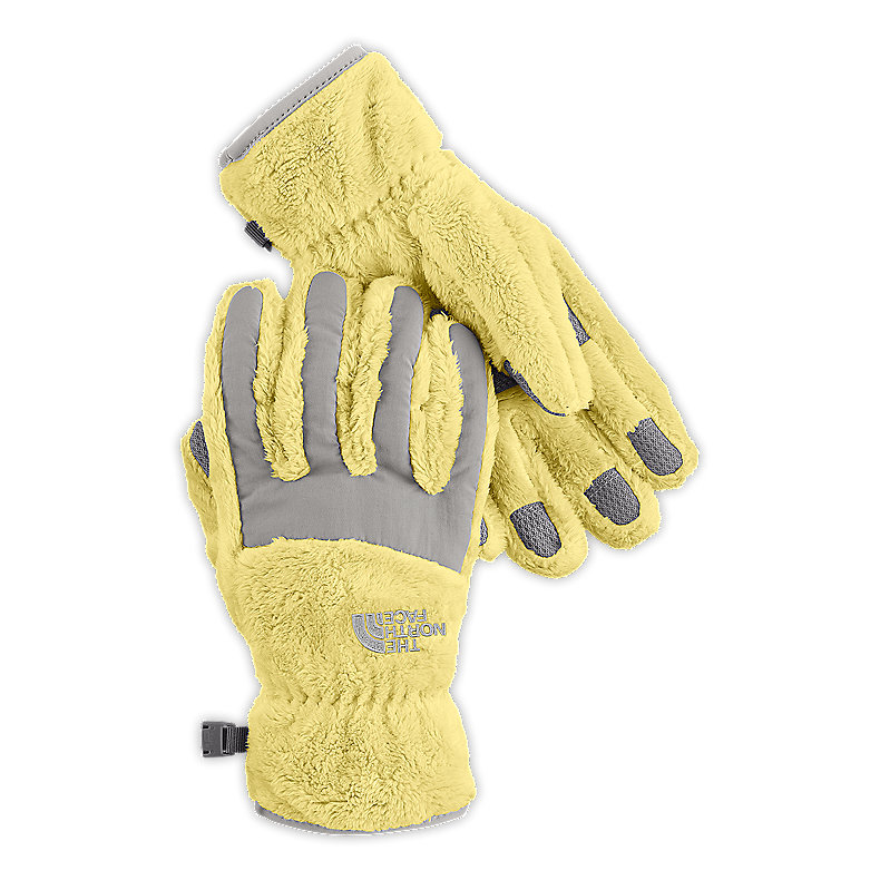 NORTH FACE GIRLS DENALI THERMAL GLOVE STINGER YELLOW / METALLIC SILVER
