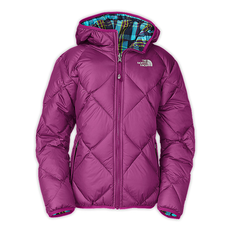NORTH FACE GIRLS REVERSIBLE DOWN MOONDOGGY JACKET PREMIERE PURPLE