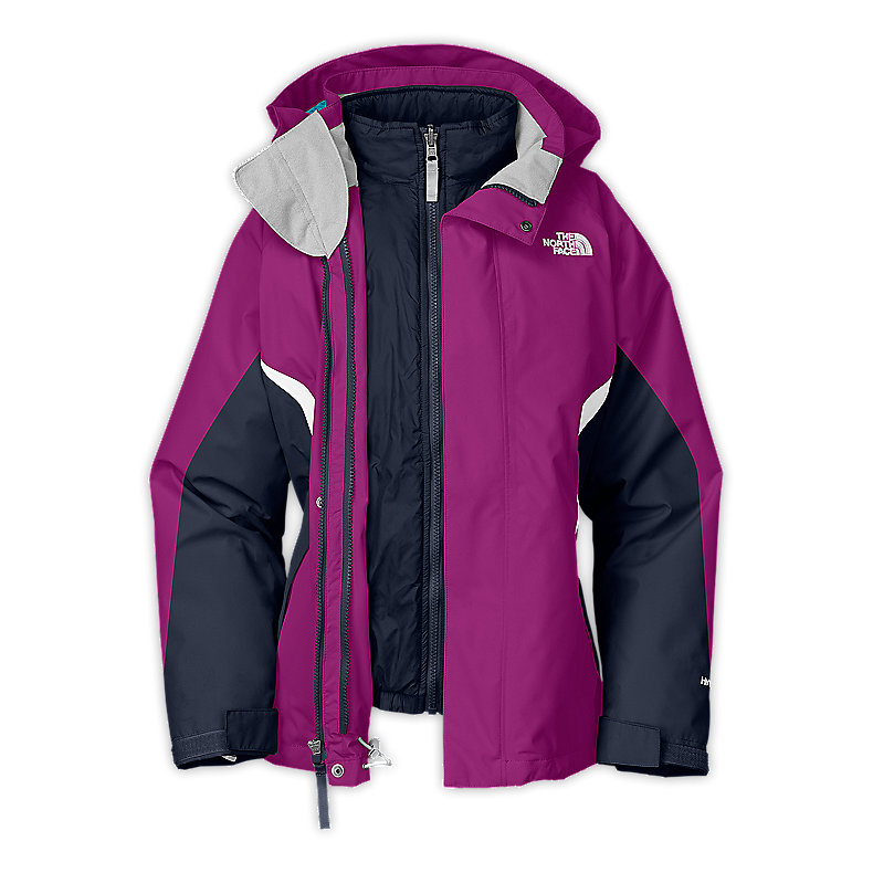 NORTH FACE GIRLS BOUNDARY TRICLIMATE JACKET PREMIERE PURPLE