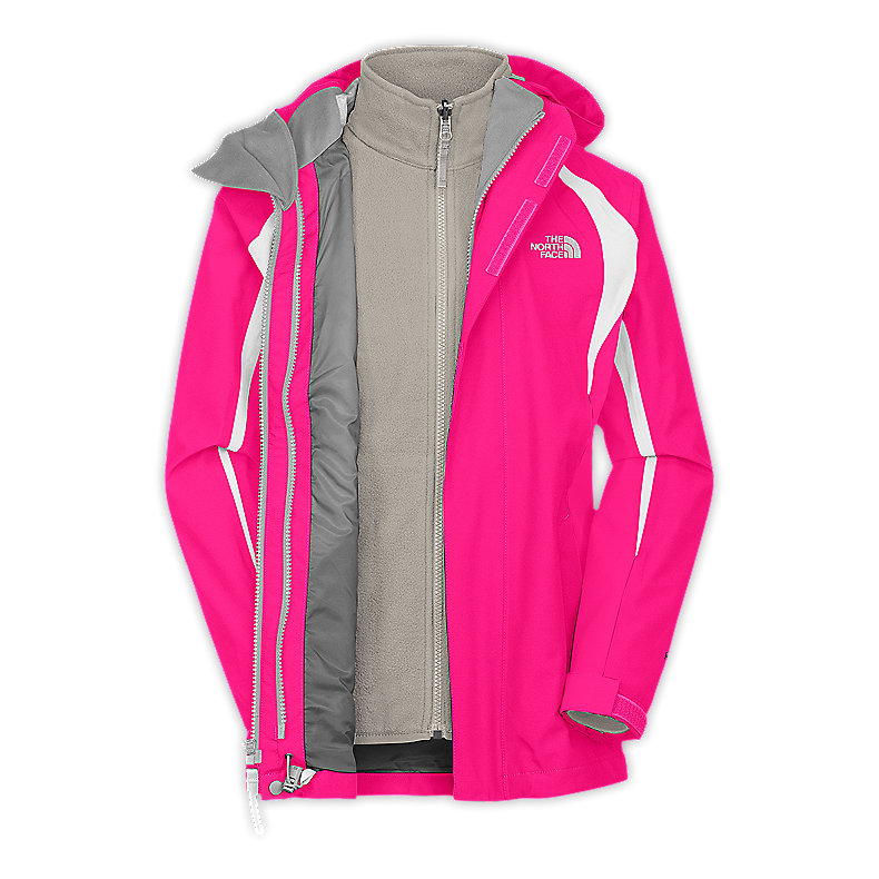 NORTH FACE GIRLS MOUNTAIN VIEW TRICLIMATE JACKET RAZZLE PINK