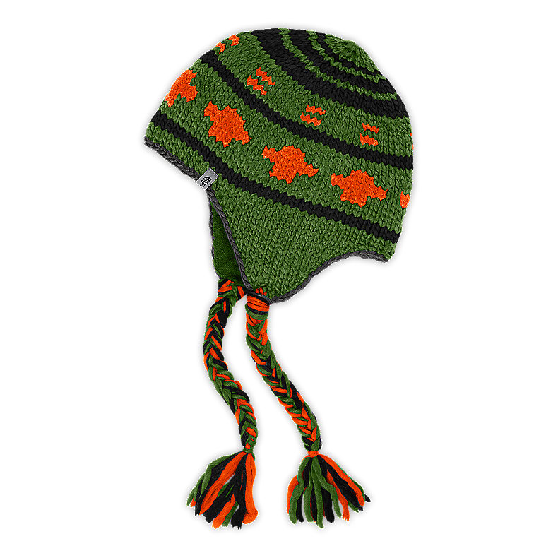 NORTH FACE BOULDER PERUVIAN BEANIE CONIFER GREEN
