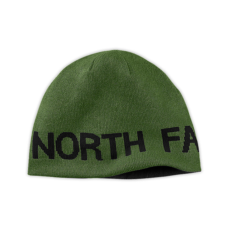 NORTH FACE REVERSIBLE TNF BANNER BEANIE CONIFER GREEN