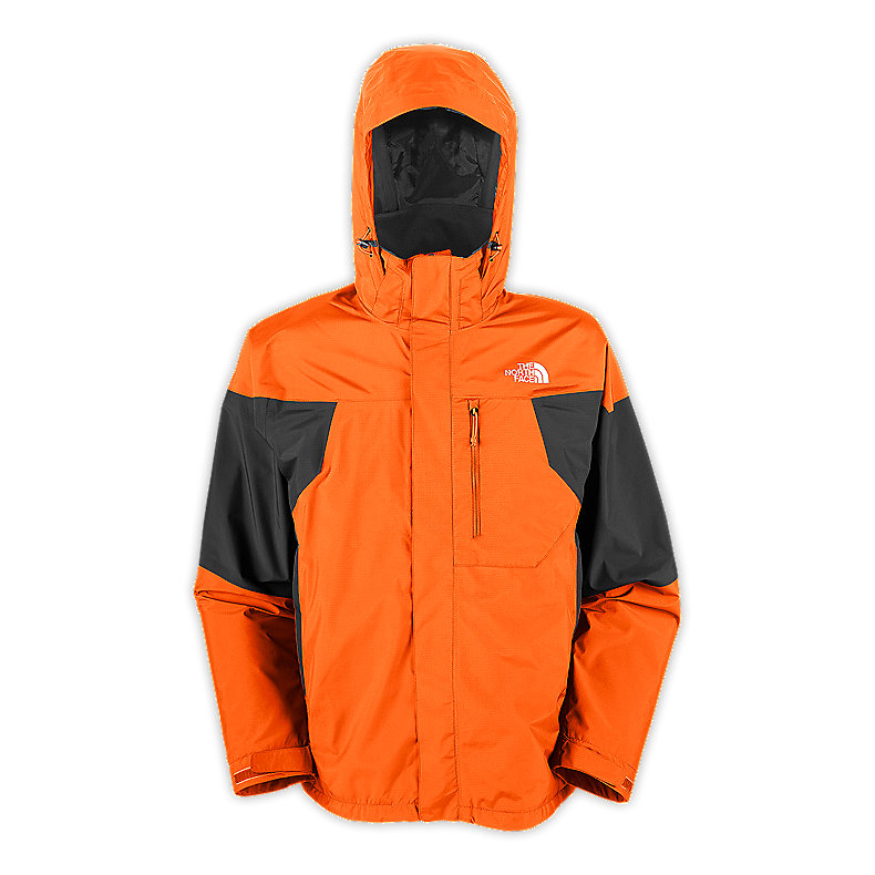 NORTH FACE MEN MOUNTAIN LIGHT JACKET ORIOLE ORANGE / ASPHALT GREY