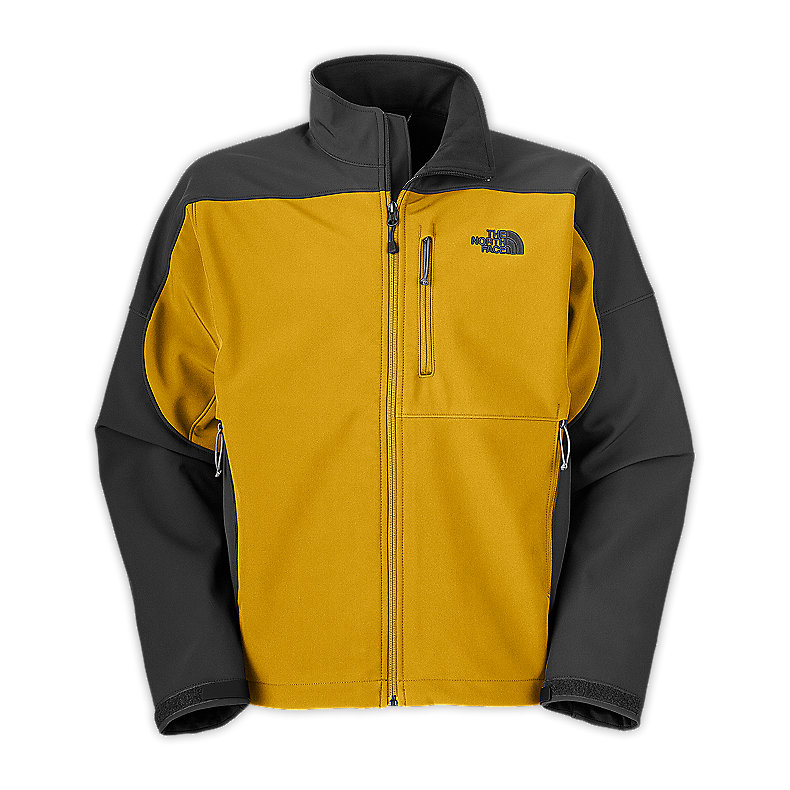 NORTH FACE MEN APEX BIONIC JACKET LEOPARD YELLOW / ASPHALT GREY
