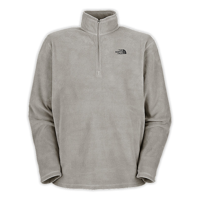 NORTH FACE MEN TKA 100 MICROVELOUR GLACIER 1/4 ZIP ETHER GREY