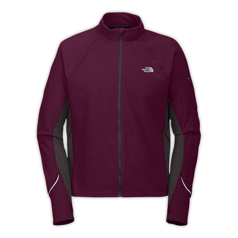 NORTH FACE MEN TKA 80 FULL ZIP MALBEC RED / GRAPHITE GREY