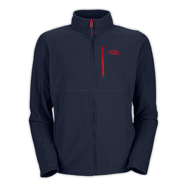 NORTH FACE MEN TKA 100 TEXTURE CAP ROCK FULL ZIP DEEP WATER BLUE