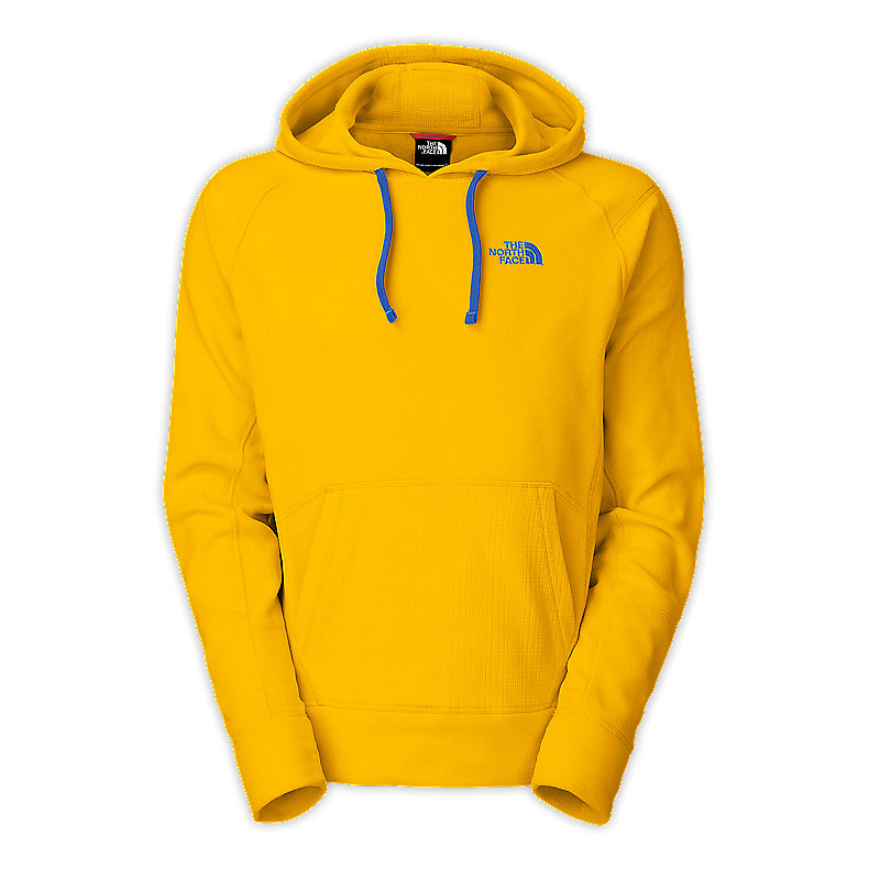 NORTH FACE MEN TKA 100 CLAW HOODIE LEOPARD YELLOW