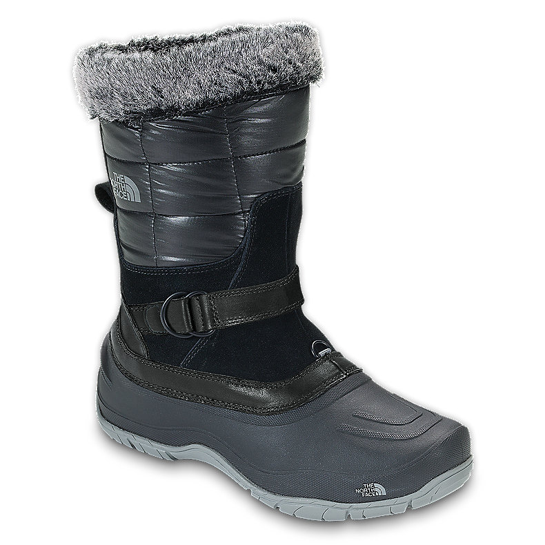 NORTH FACE WOMEN SHELLISTA PULL-ON BOOT SHINY TNF BLACK / TNF BLACK