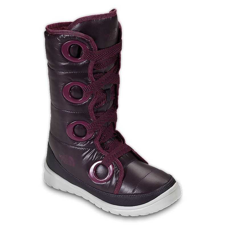 NORTH FACE WOMEN DESTINY DOWN BOOT SHINY BAROQUE PURPLE / ROXBURY PINK