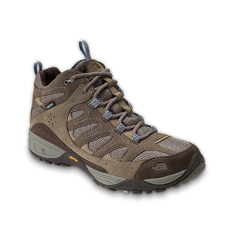 NORTH FACE WOMEN SABLE MID GTX XCR BOOT CLASSIC KHAKI / TOFINO BLUE