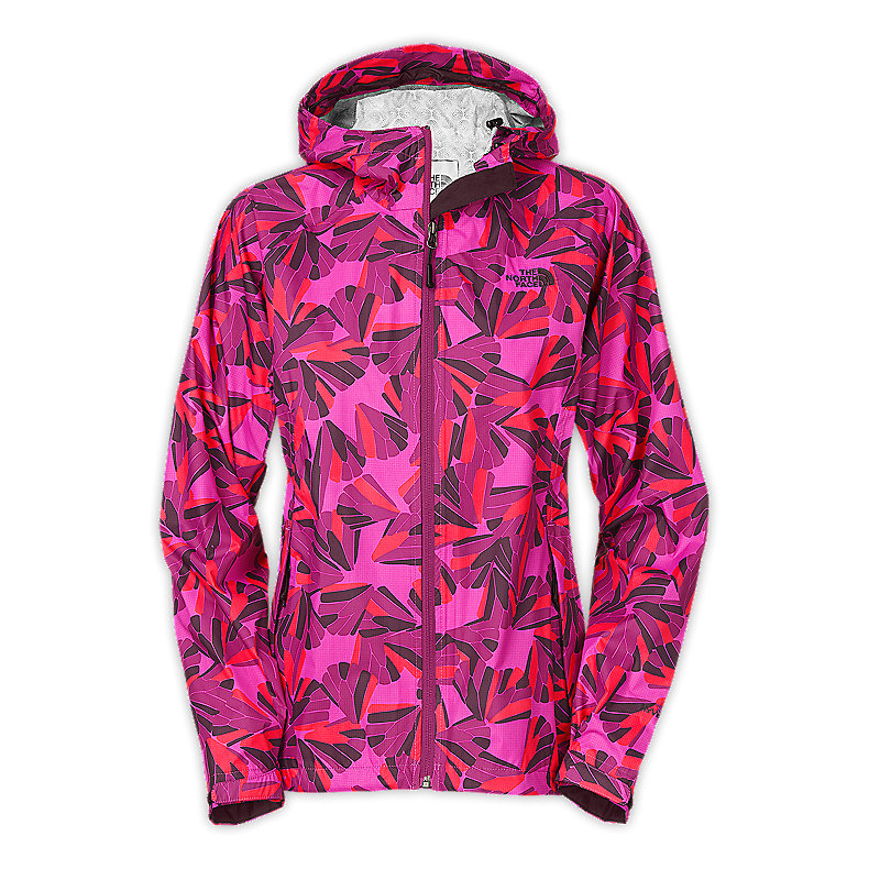 NORTH FACE WOMEN BELLA JACKET PREMIERE PURPLE FLUTTER PRNT
