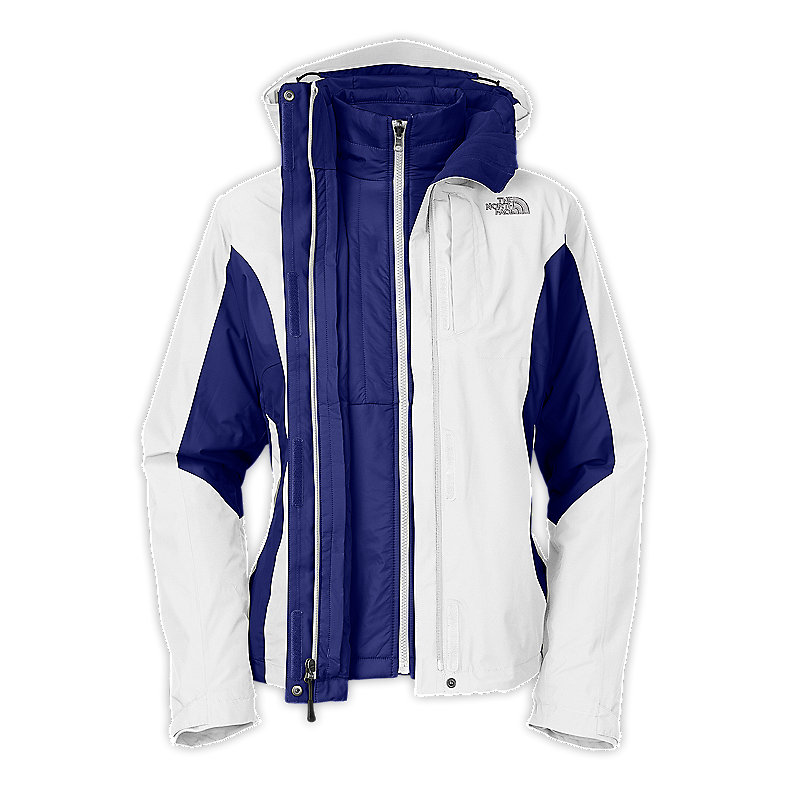 NORTH FACE WOMEN VINSON II TRICLIMATE JACKET TNF WHITE / BOLT BLUE
