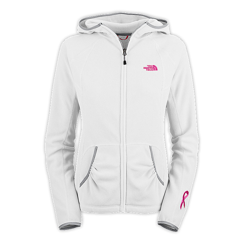 NORTH FACE WOMEN PINK RIBBON MASONIC HOODIE TNF WHITE