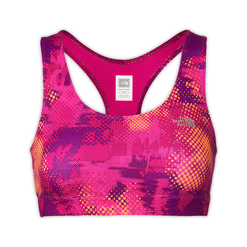 NORTH FACE WOMEN GRAPHIC BOUNCE-B-GONE BRA RAZZLE PINK PRINT