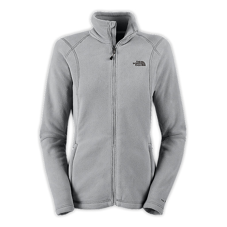 NORTH FACE WOMEN TKA 200 FULL ZIP METALLIC SILVER