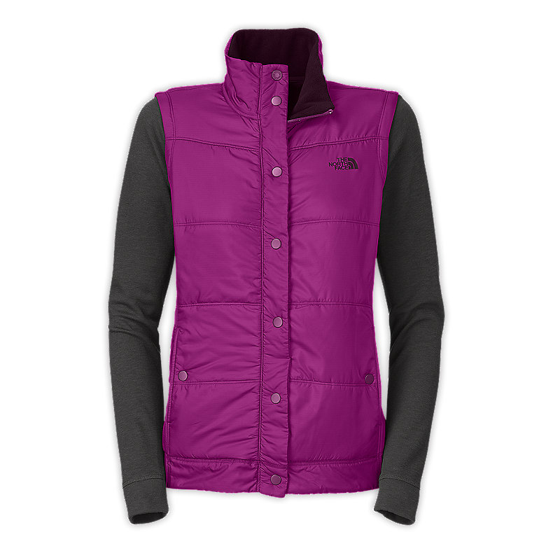 NORTH FACE WOMEN CRESTLINE WOOL HYBRID PREMIERE PURPLE / ASPHALT GREY