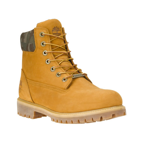 Timberland Mens 6-Inch Premium Waterproof Boots Wheat Waterbuck/Camo