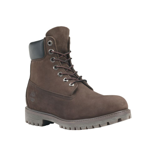 Timberland Mens 6-Inch Premium Waterproof Boots Dark Chocolate Nubuck
