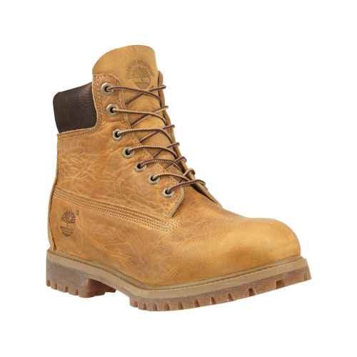 Timberland Mens Heritage 6-Inch Waterproof Boots Wheat Burnished Full-Grain