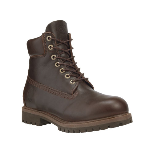 Timberland Mens Heritage 6-Inch Waterproof Boots Dark Brown Oiled