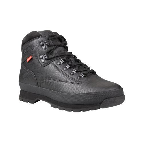 Timberland Mens Classic Leather Euro Hiker Boots Black Helcor Exotic