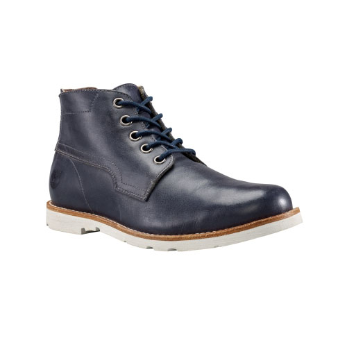 Timberland Mens Earthkeepers Rugged LT Chukka Boots Navy Full-Grain