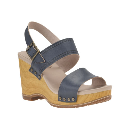Timberland Womens Tilden Leather Double-Strap Sandals Navy Full-Grain