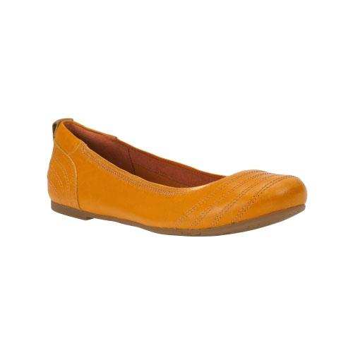 Timberland Womens Earthkeepers Ellsworth Ballerina Flats Apricot Full-Grain