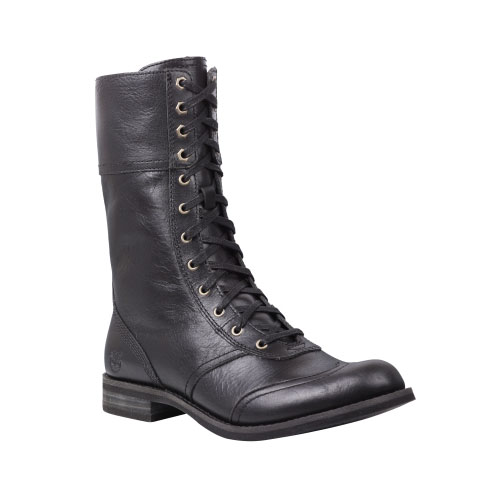 Timberland Womens Earthkeepers Savin Hill Toe-Cap Boots Black