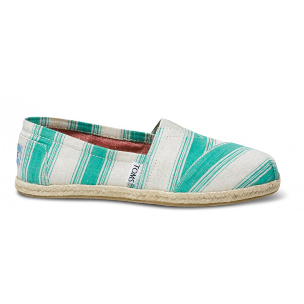 Toms Aqua Umbrella Stripe Women Classics
