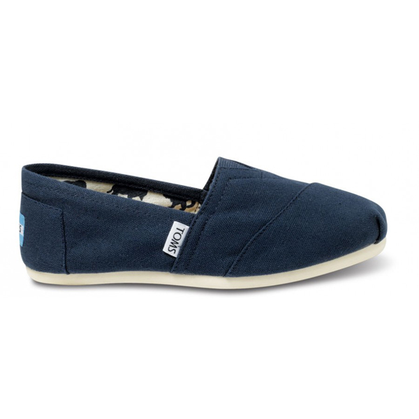 Toms Navy Canvas Women Classics